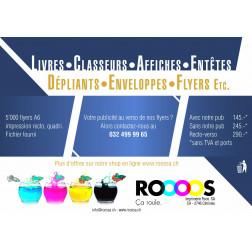 Flyer A6 recto avec publicité Imprimerie Roos SA - CHF 145.00 + TVA