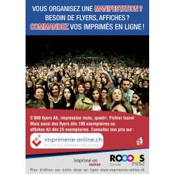Flyer A6 recto-verso avec publicité ROOS - CHF 145.00 + TVA